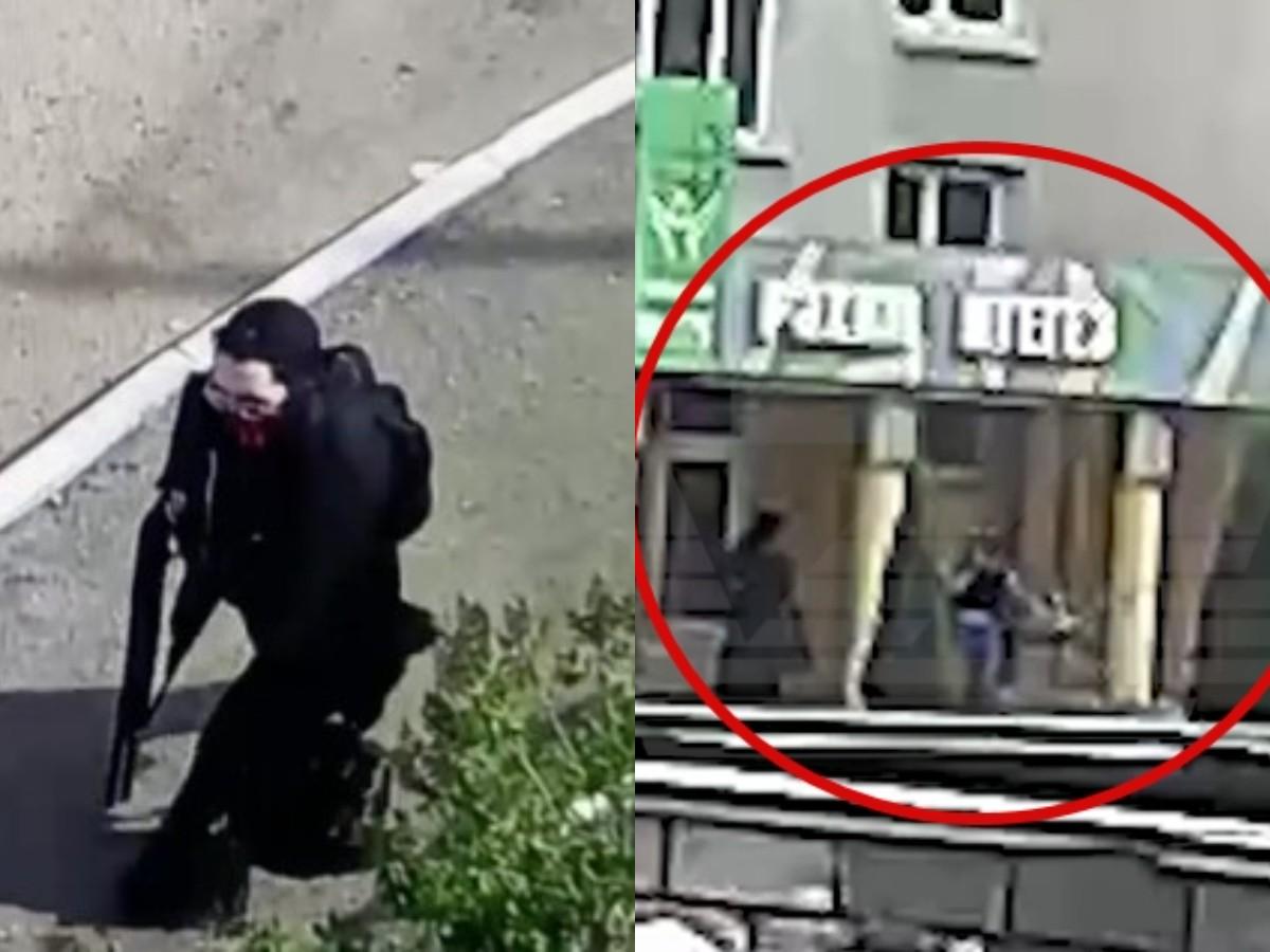 Первые выстрелы Ильназа Галявиева в школе Казани попали на видео (ВИДЕО)