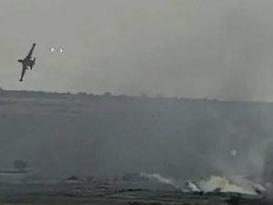 Сеть восхитило видео атаки штурмовика Су-25 ВВС Армении на азербайджанские позиции