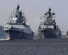 Япония Цусима окружили 4 корабля ВМФ