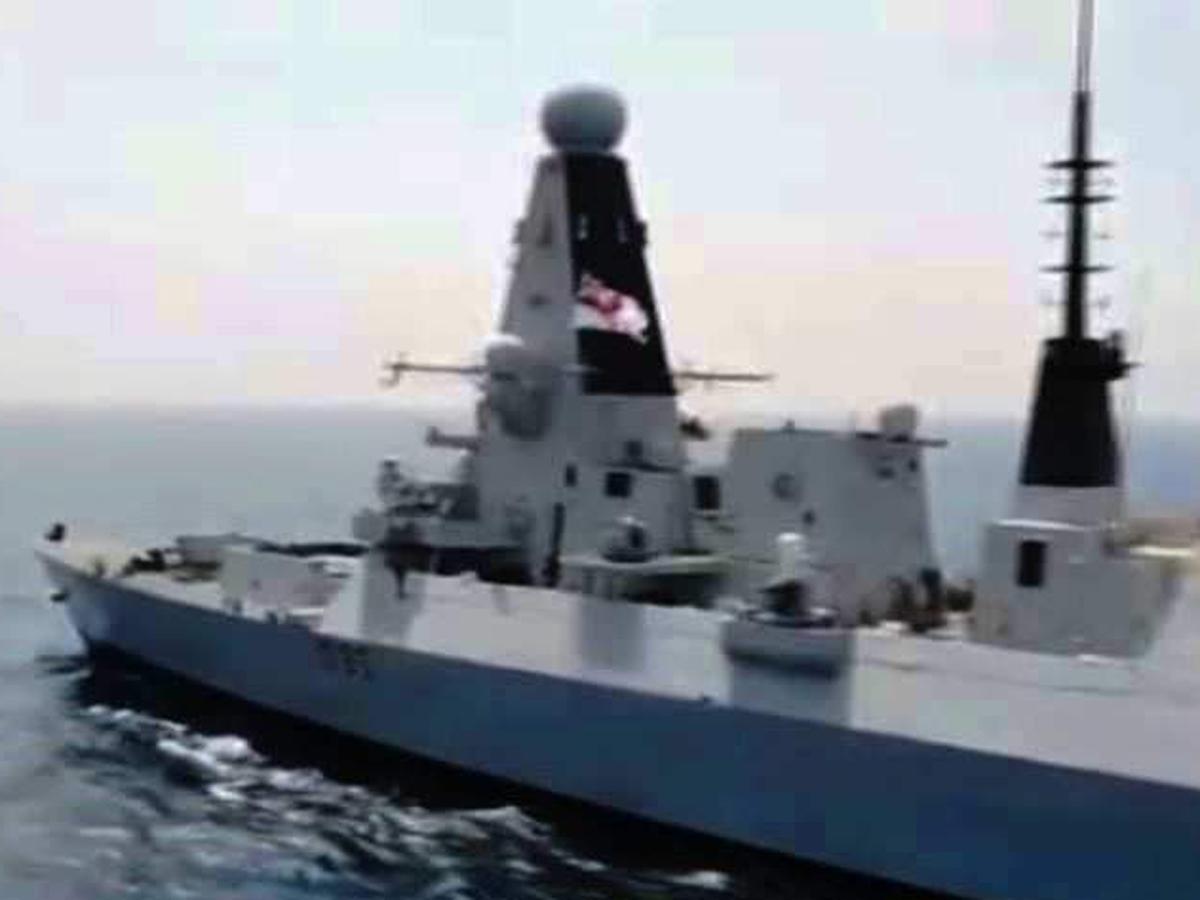британский эсминец воды РФ