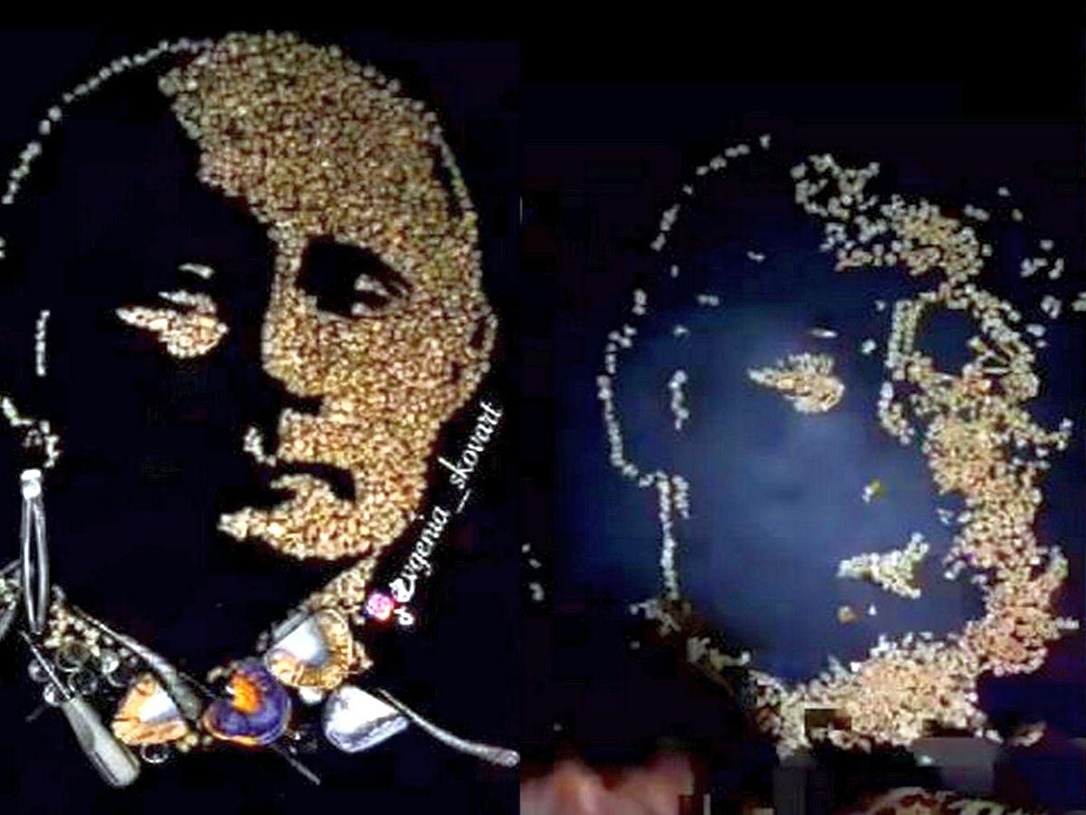 Портрет Президента России из человеческих зубов выставили на продажу