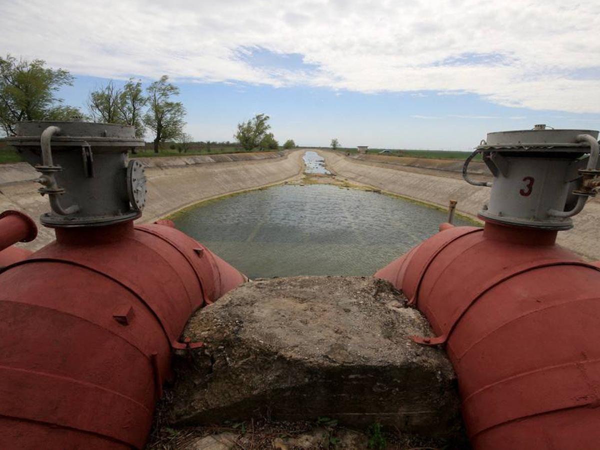 водная блокада Крыма Siemens