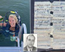 Женщина обнаружила письмо в бутылке, отправленное 95 лет назад, и нашла родственника отправителя