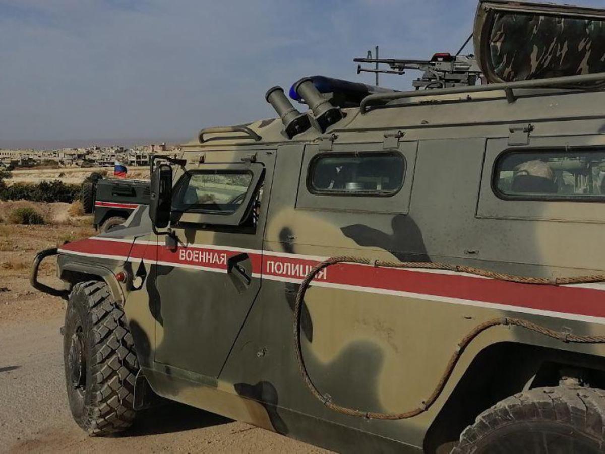 Бронеавтомобиль российских военных
