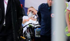 Эриксен потерял сознание