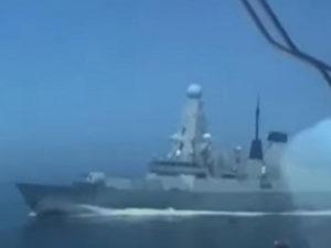ФСБ видео с британским эсминцем