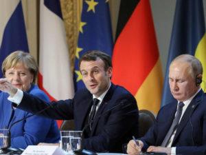 Путин, Макрон, Меркель