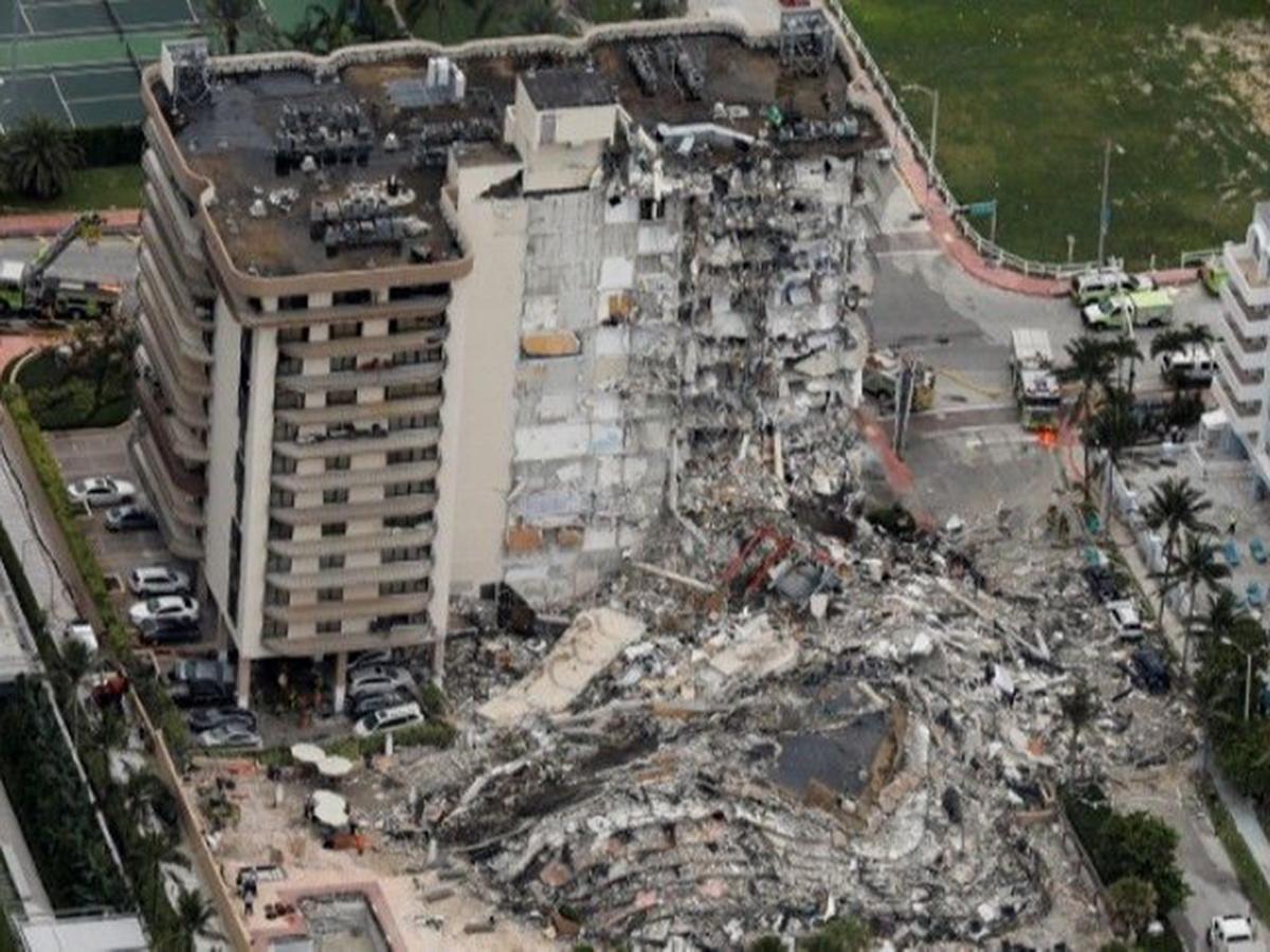 Обрушение дома в Майами