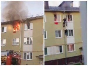 Чудесное спасение детей из горящей квартиры в Костроме попало на видео