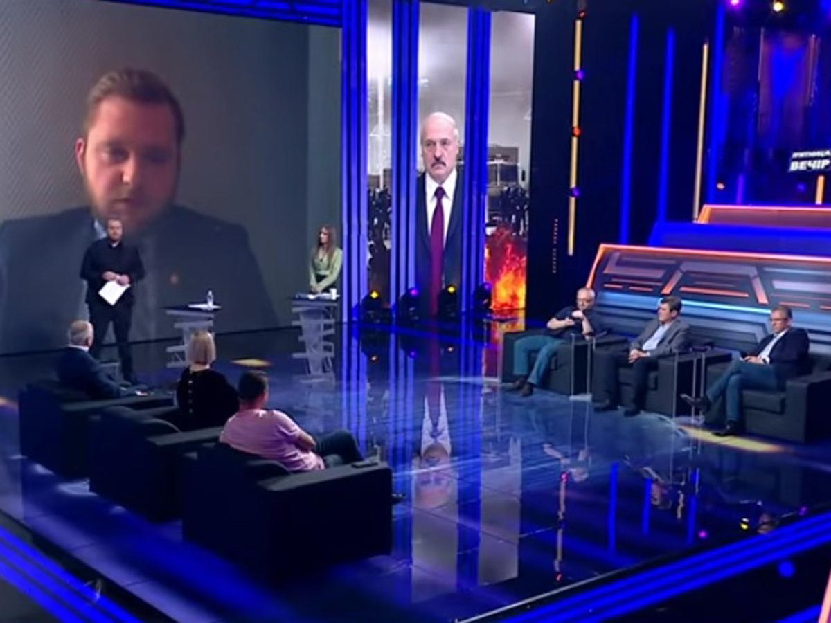 Промах белоруса украинское ТВ