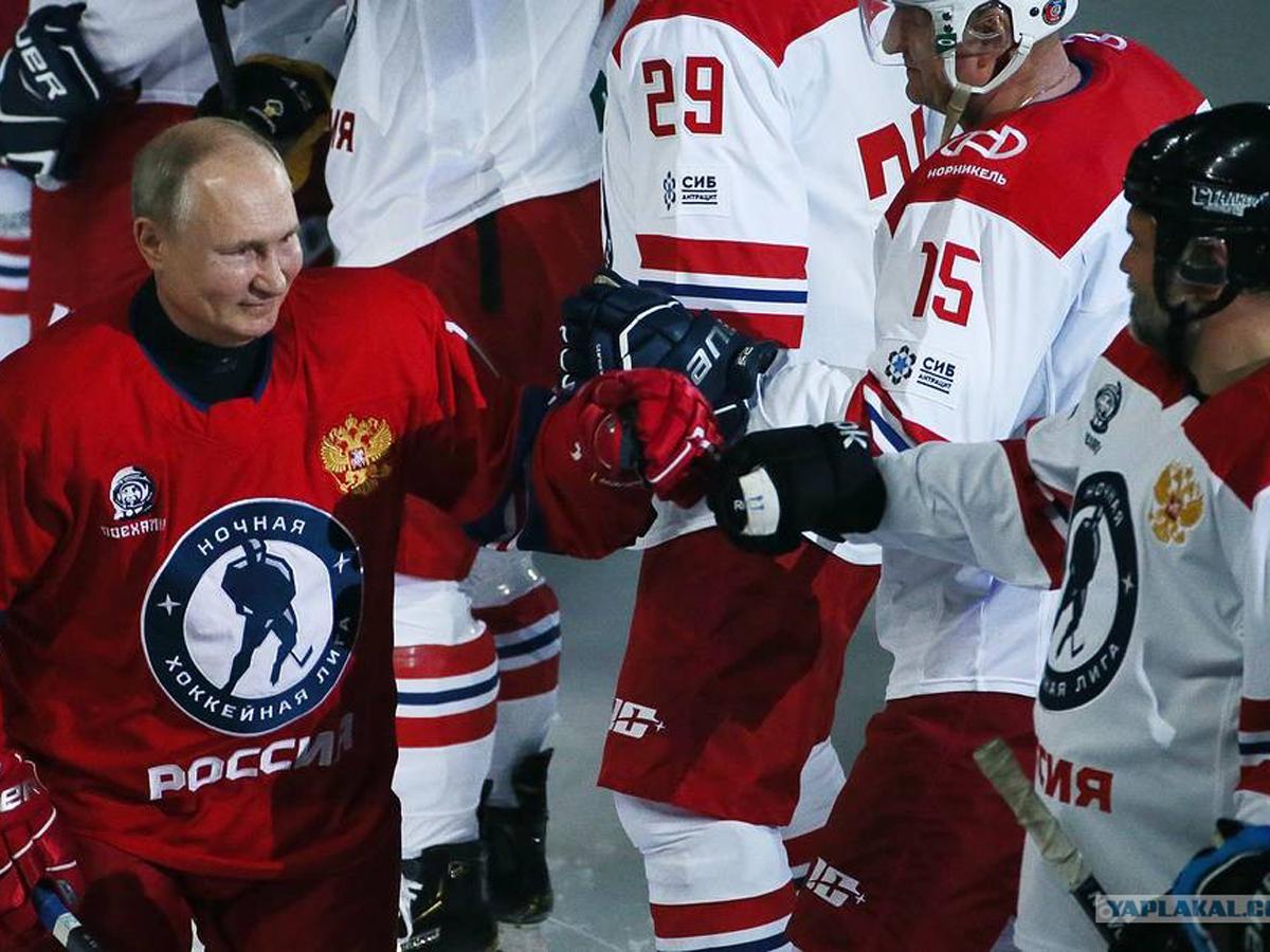 Путин об игре в хоккей