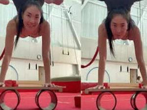 Трюк монгольской гимнастки набирает популярность в Сети