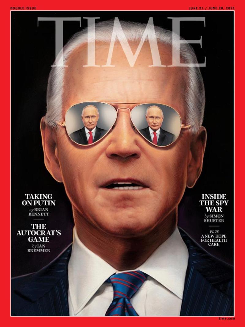 Журнал Time поместил на обложку Байдена с отражением Путина в очках (ФОТО)