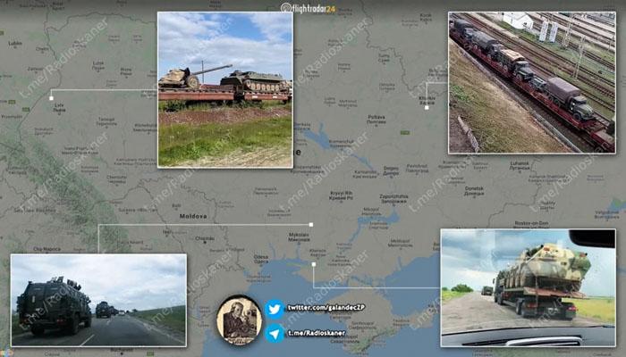 Украина стягивает к границе с Крымом сотни танков и артиллерию: опубликовано видео (ВИДЕО)