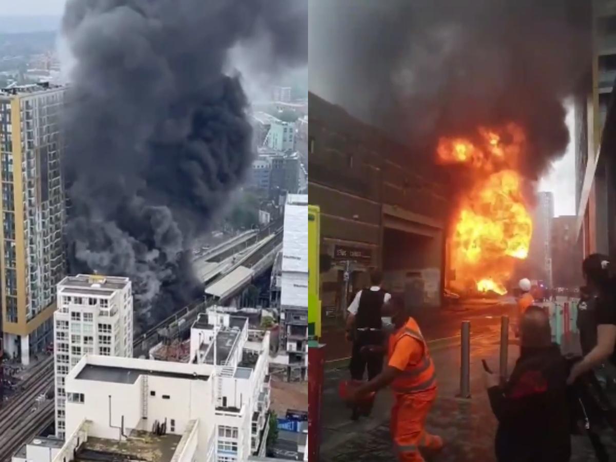Мощный взрыв в центре Лондона: горят постройке у станции метро