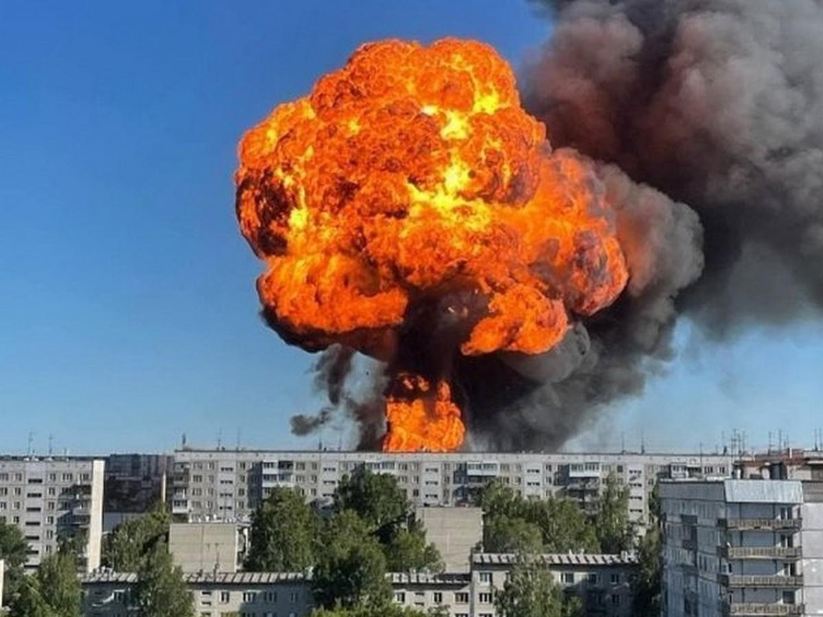 Взрыв в Новосибирске на АЗС