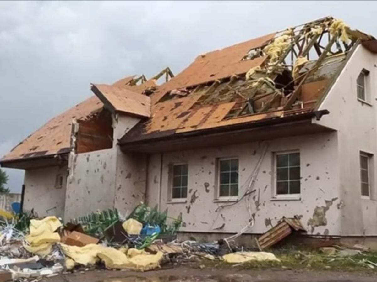 Страшный ураган в Чехии
