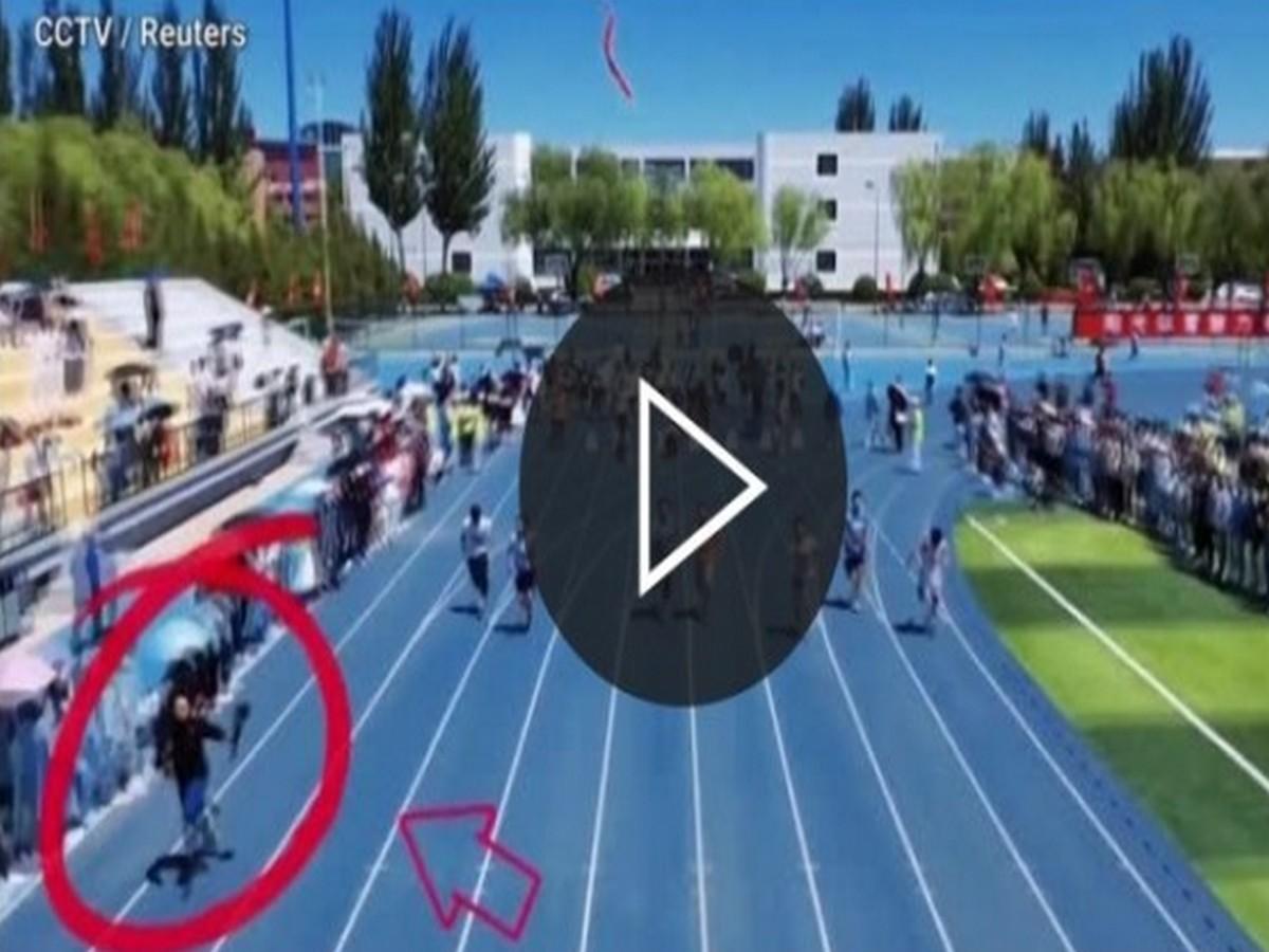 Фотограф обогнал бегунов, снимая соревнования
