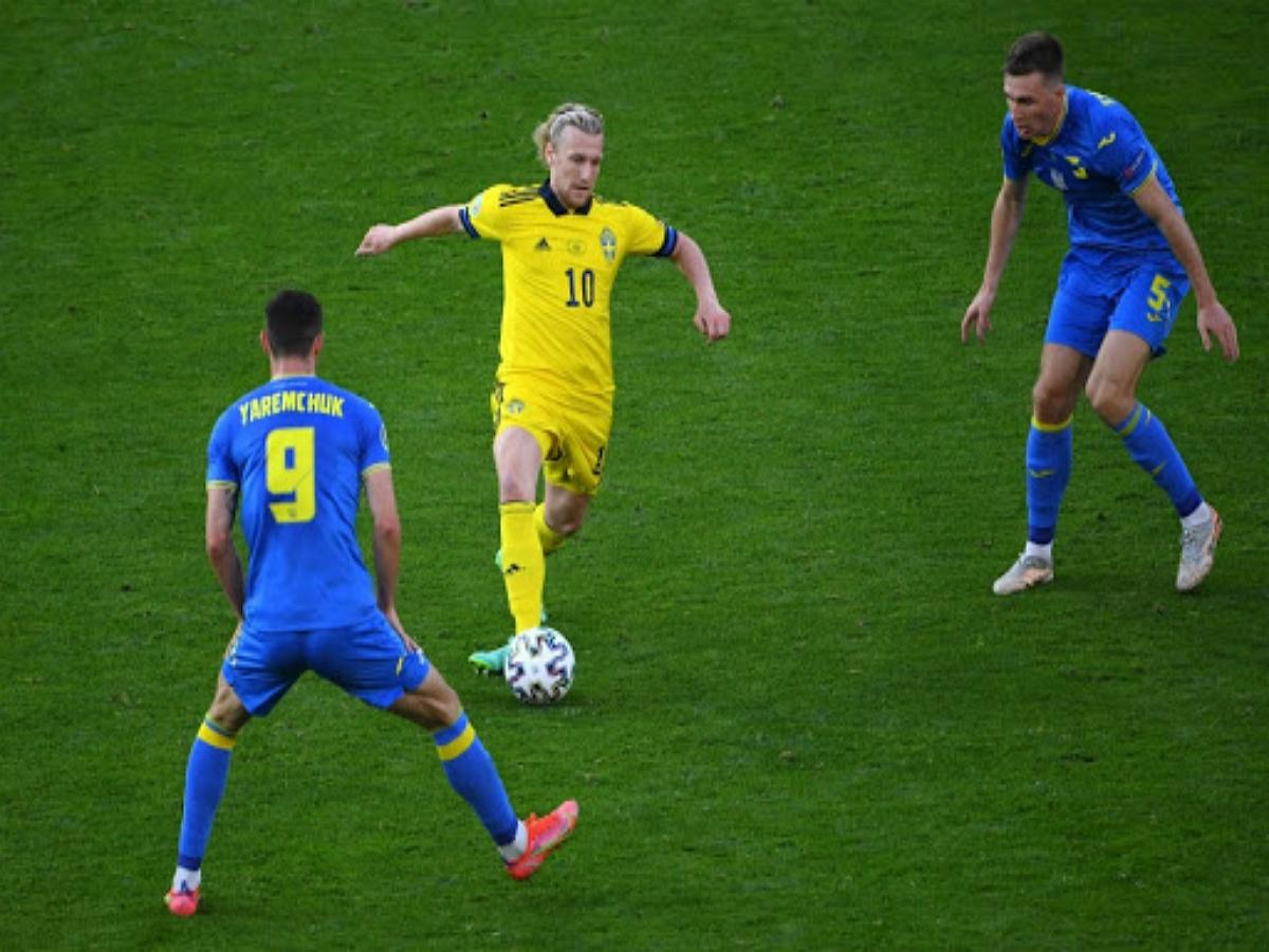 На матче Украина-Швеция у фаната с триколором отобрали флаг
