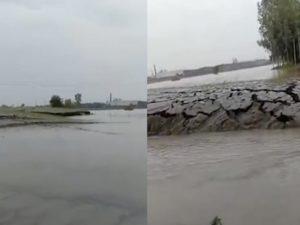 В Индии сняли видео, на котором земля сама поднялась из воды