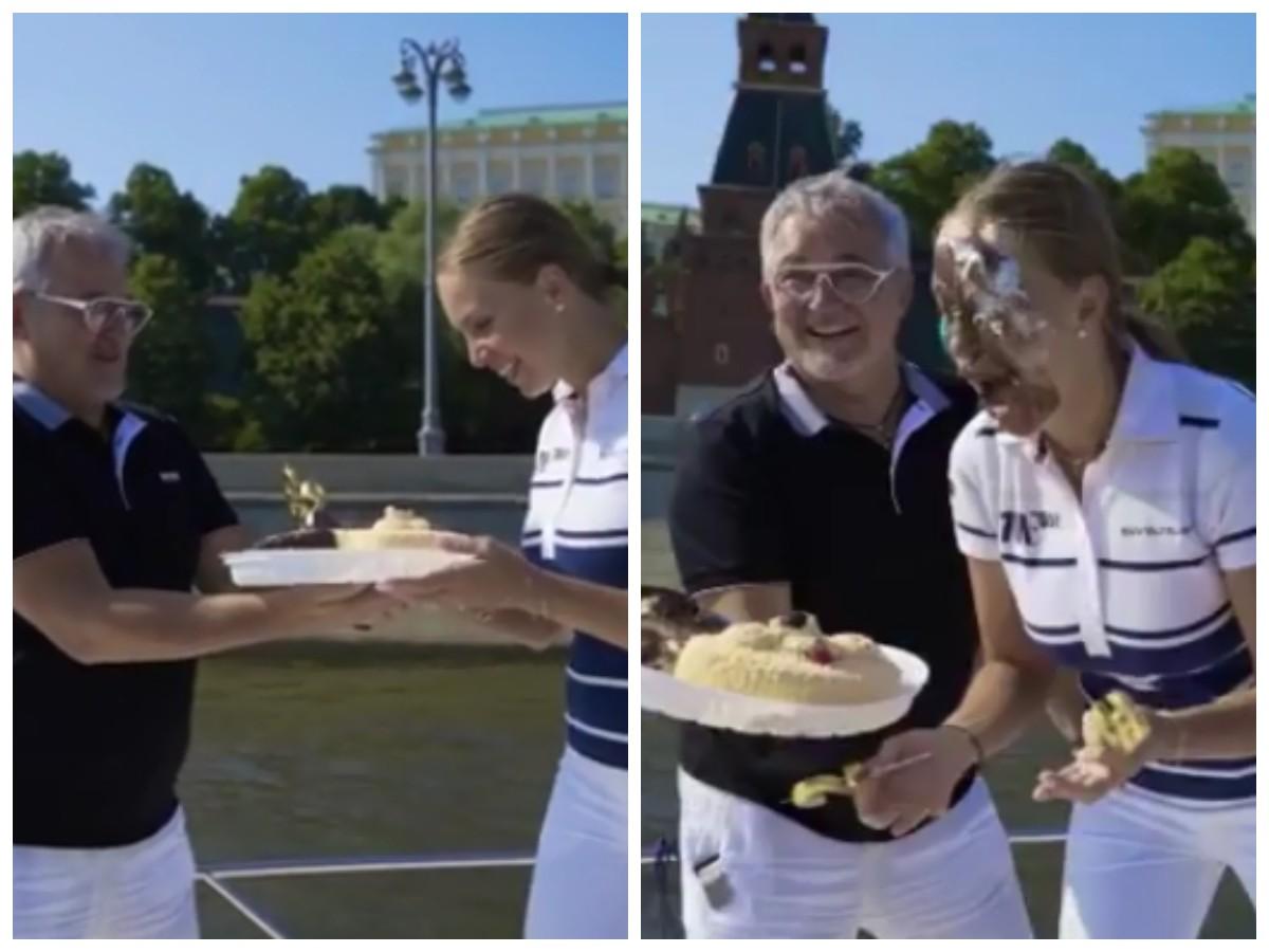 «Публично унизил»: Диброва осудили за удар тортом в лицо жены на ее день рождения