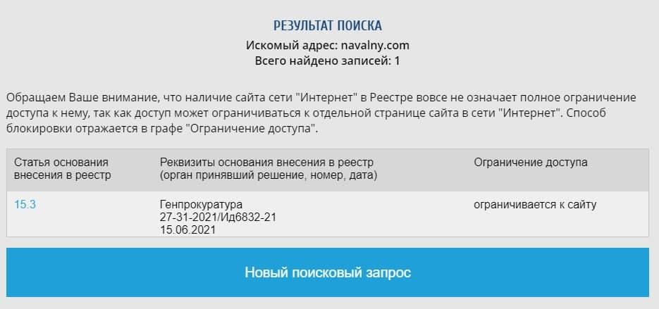 сайт Навального
