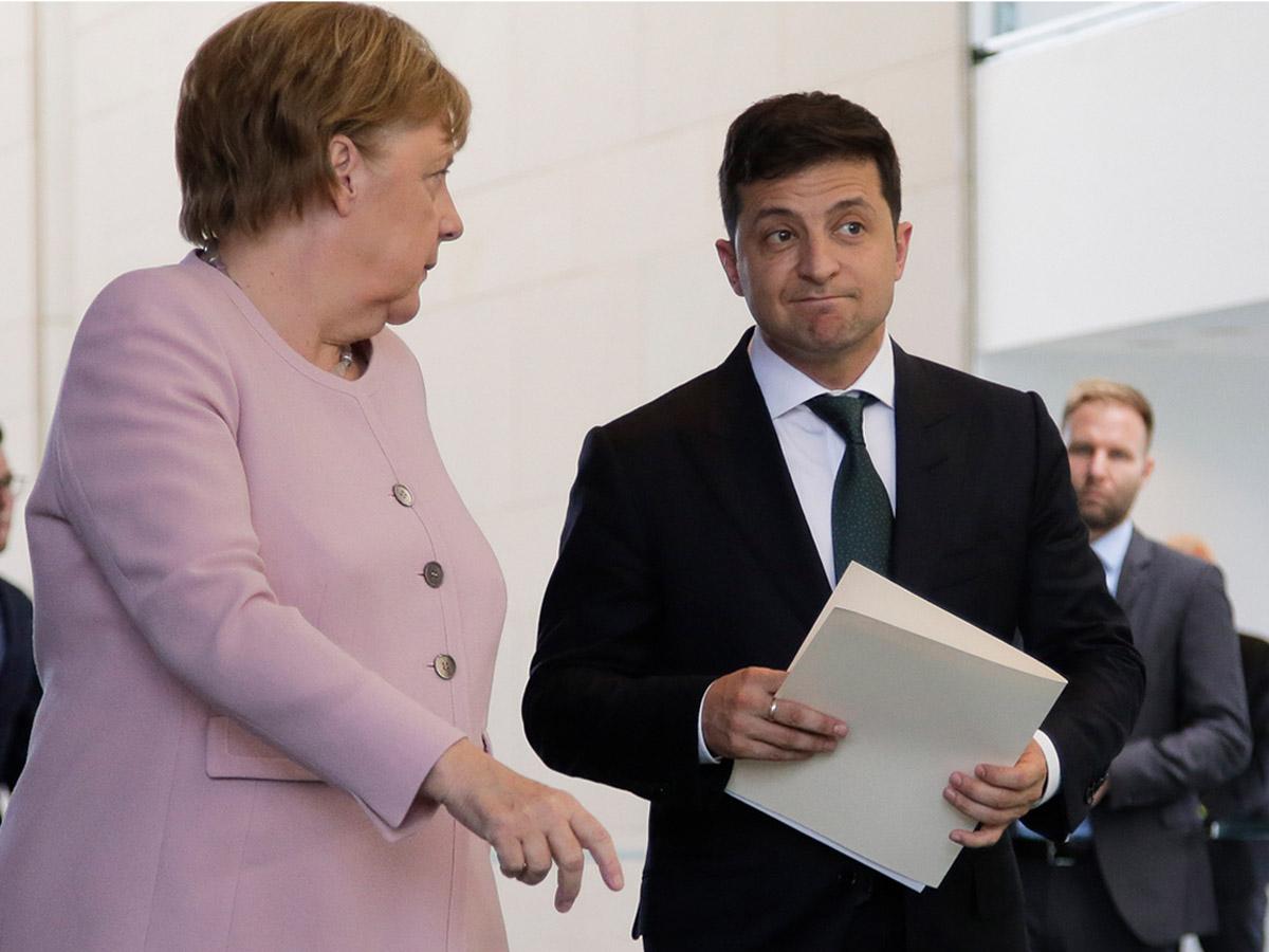 Зеленский обвинения Меркель