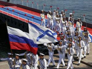 В Санкт-Петербурге прошел парад в честь дня ВМФ
