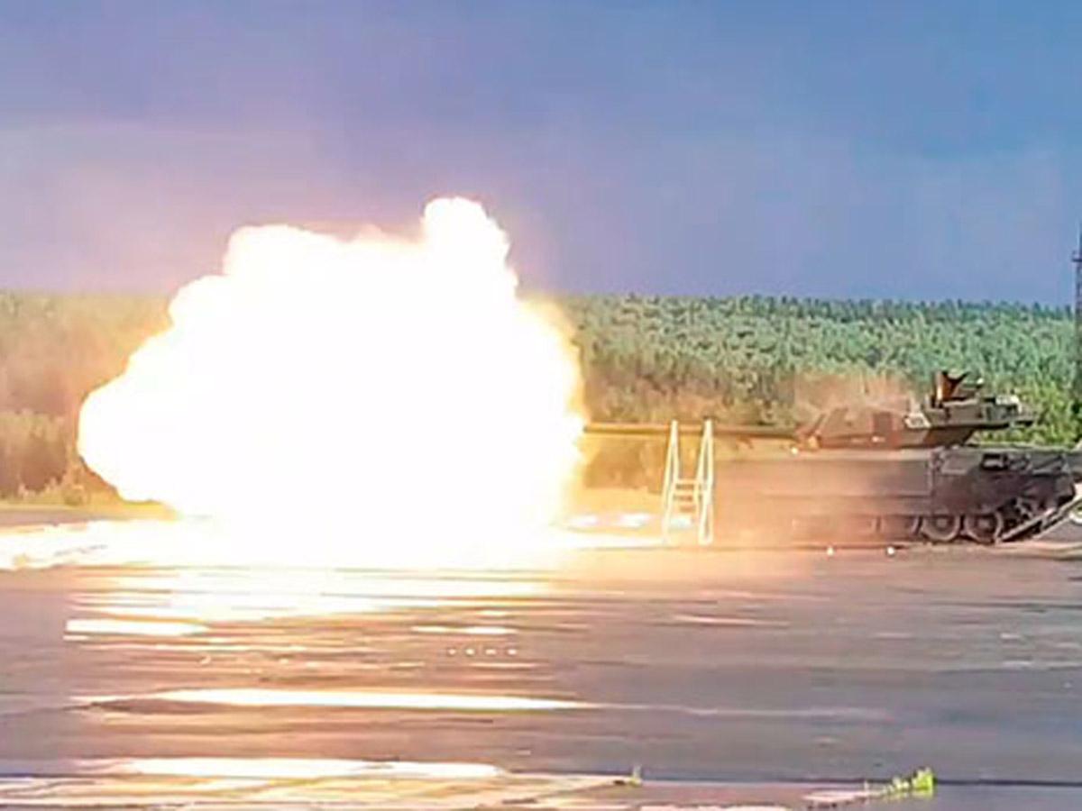 выстрел танка Т-14 «Армата»