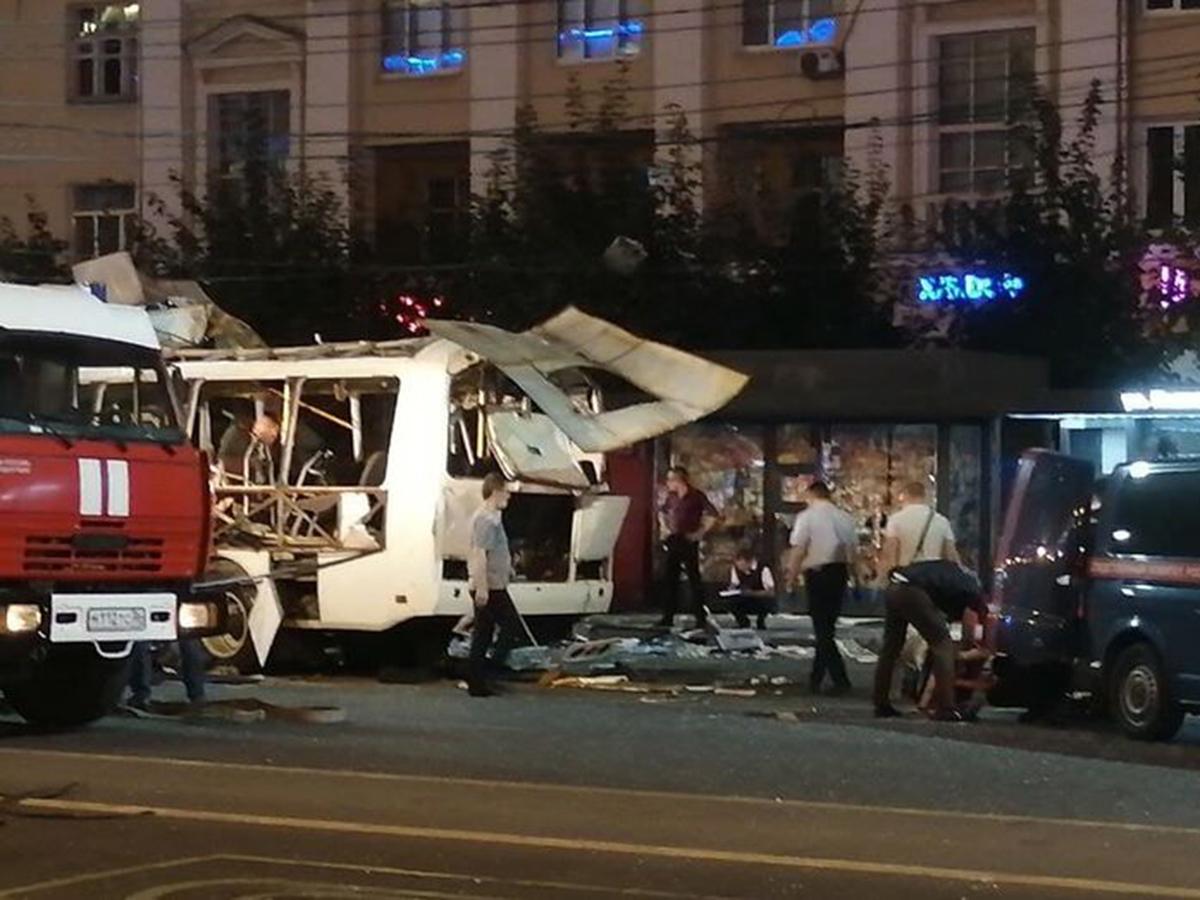 Взрыв автобуса в Воронеже