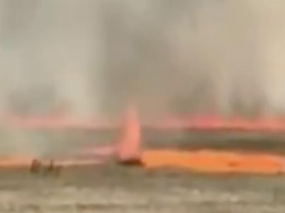 Башкирии огненный торнадо пастбище