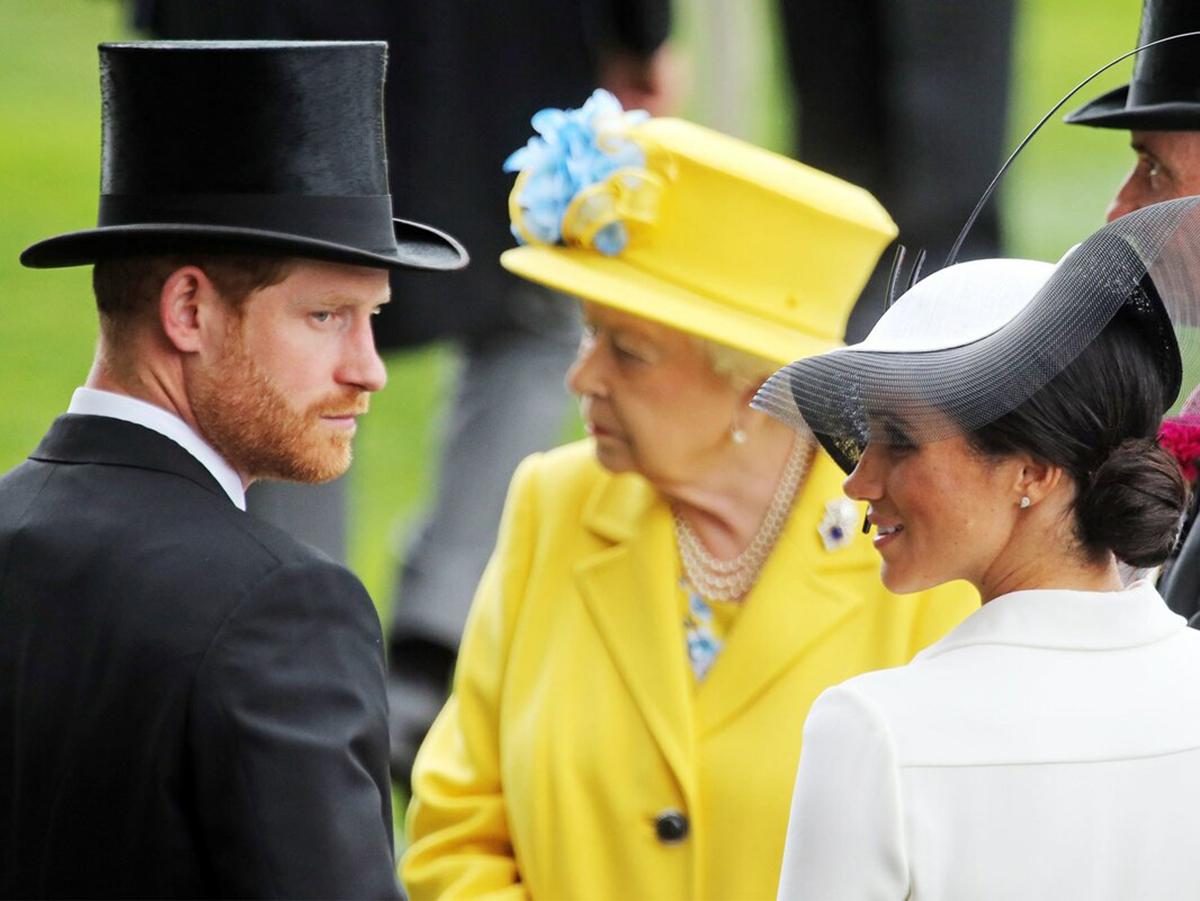 Королева Елизавета принц Гарри Меган Маркл