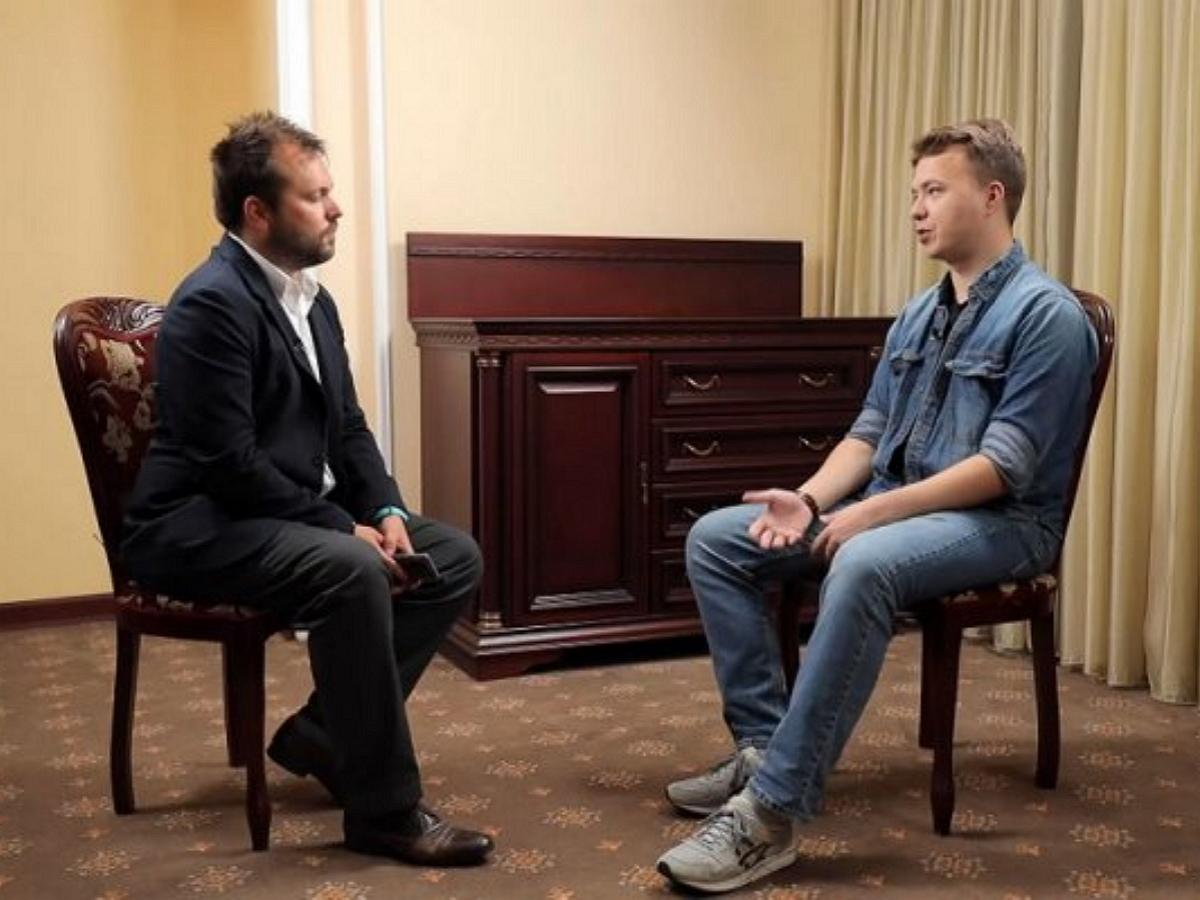 Протасевич дал интервью RT, признав себя соучастником в попытке госпереворота в Белоруссии