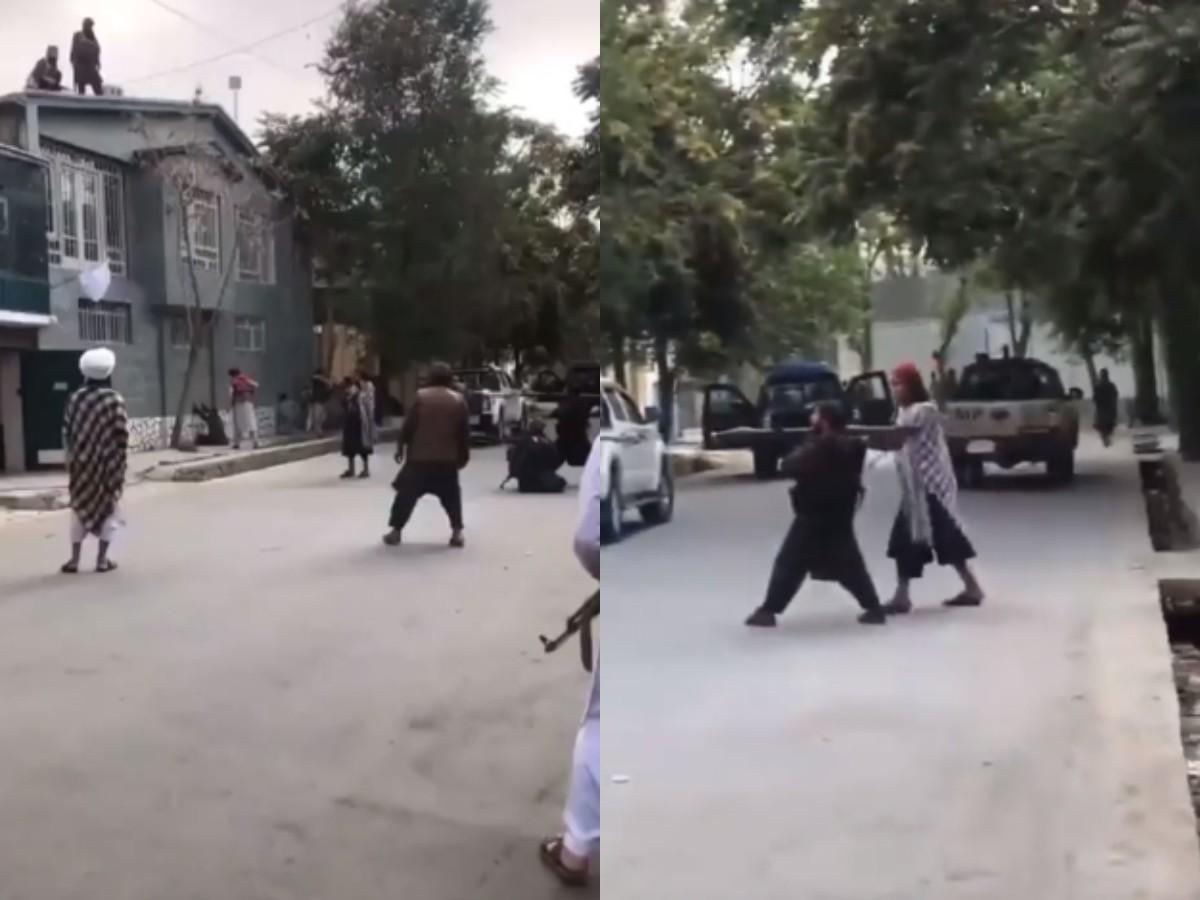 «Коротышка с гранатометом»: в Сети высмеяли видео с талибом на улице Афганистана