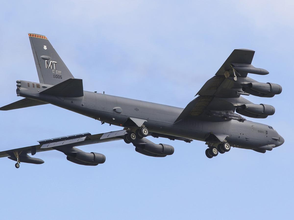 Американский бомбардировщик Б-52