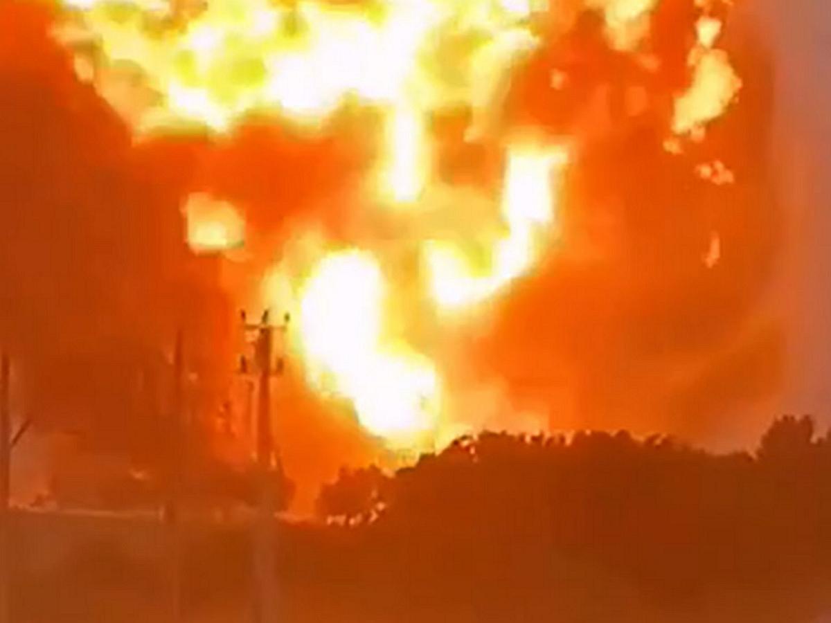 взрыв на военном объекте