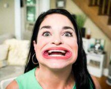 Огромный рот американки занесли в Книгу рекордов Гиннеса