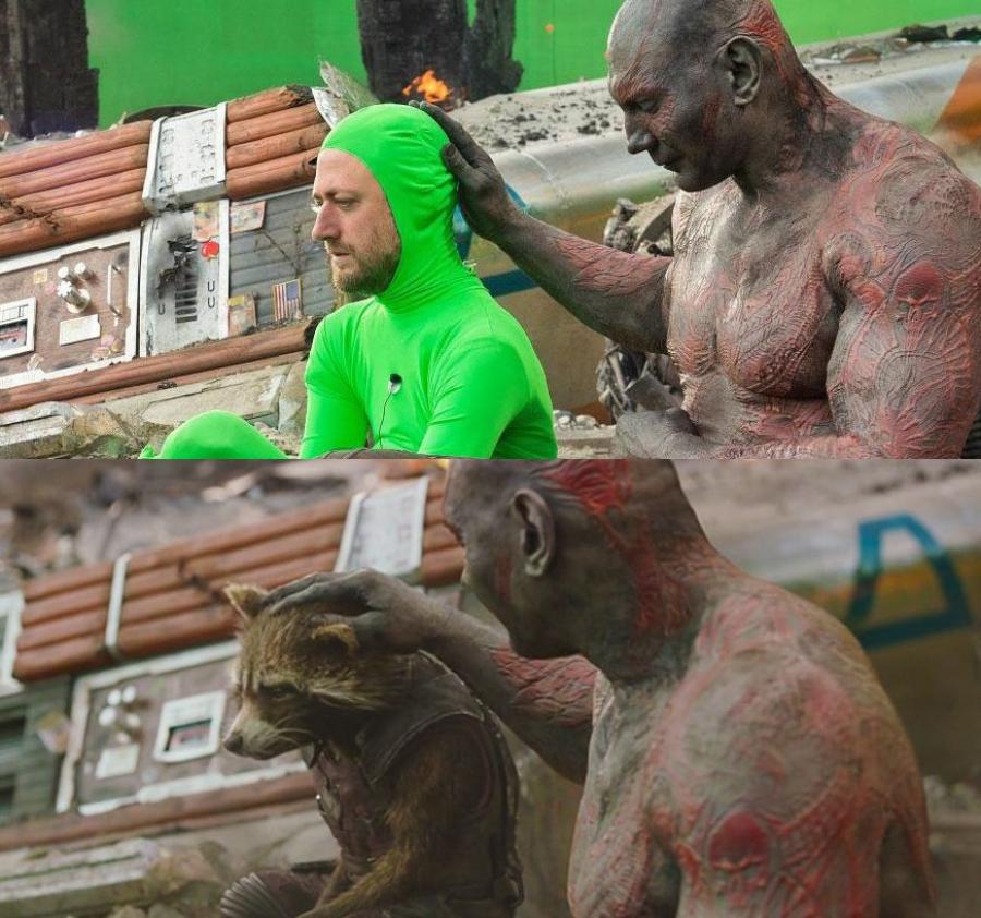 Сцены из фильмов до и после спецэффектов