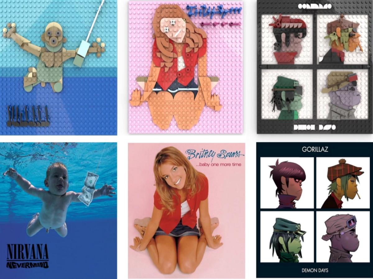 Бруклинский дизайнер собирает обложки культовых музыкальных альбомов из кубиков LEGO