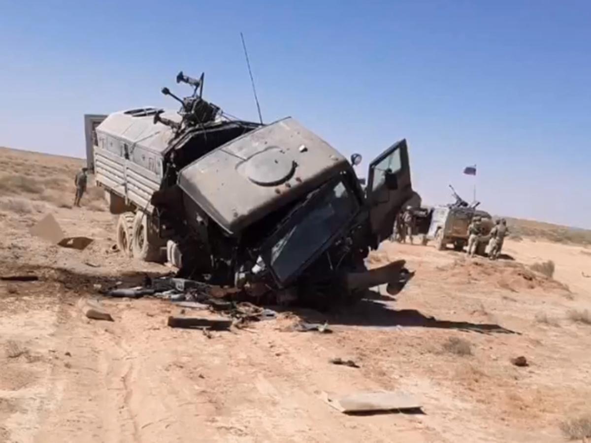 Колонну российских военных атаковали в Сирии