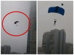 В Москве арестовали парашютистов, спрыгнувших с высотки на Ленинском проспекте