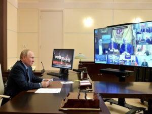 Путин на встрече с лидерами партий