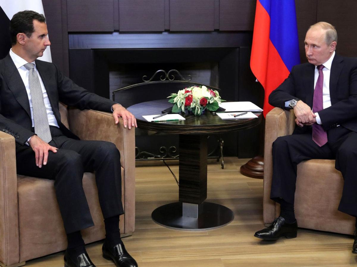 Путин переговоры Асад