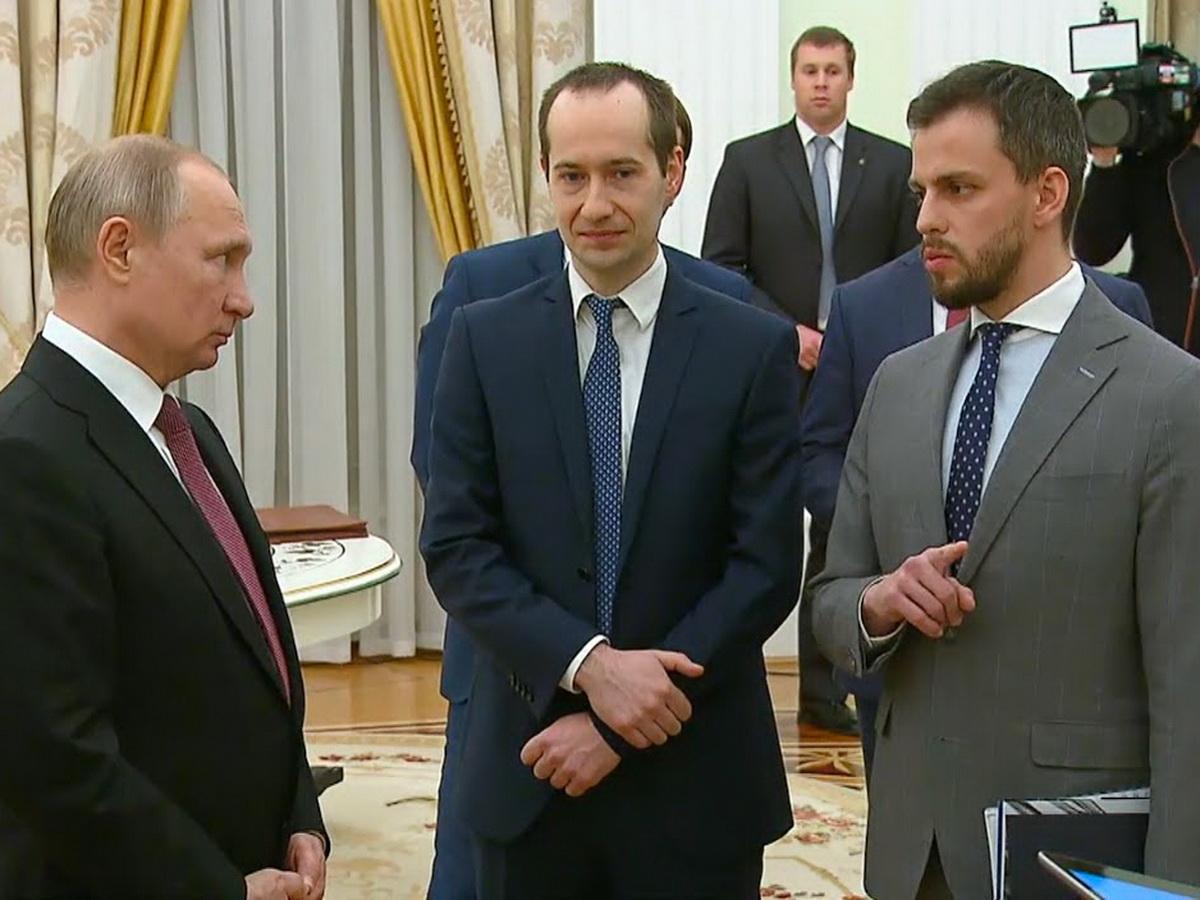 Сачков на встрече с Путиным