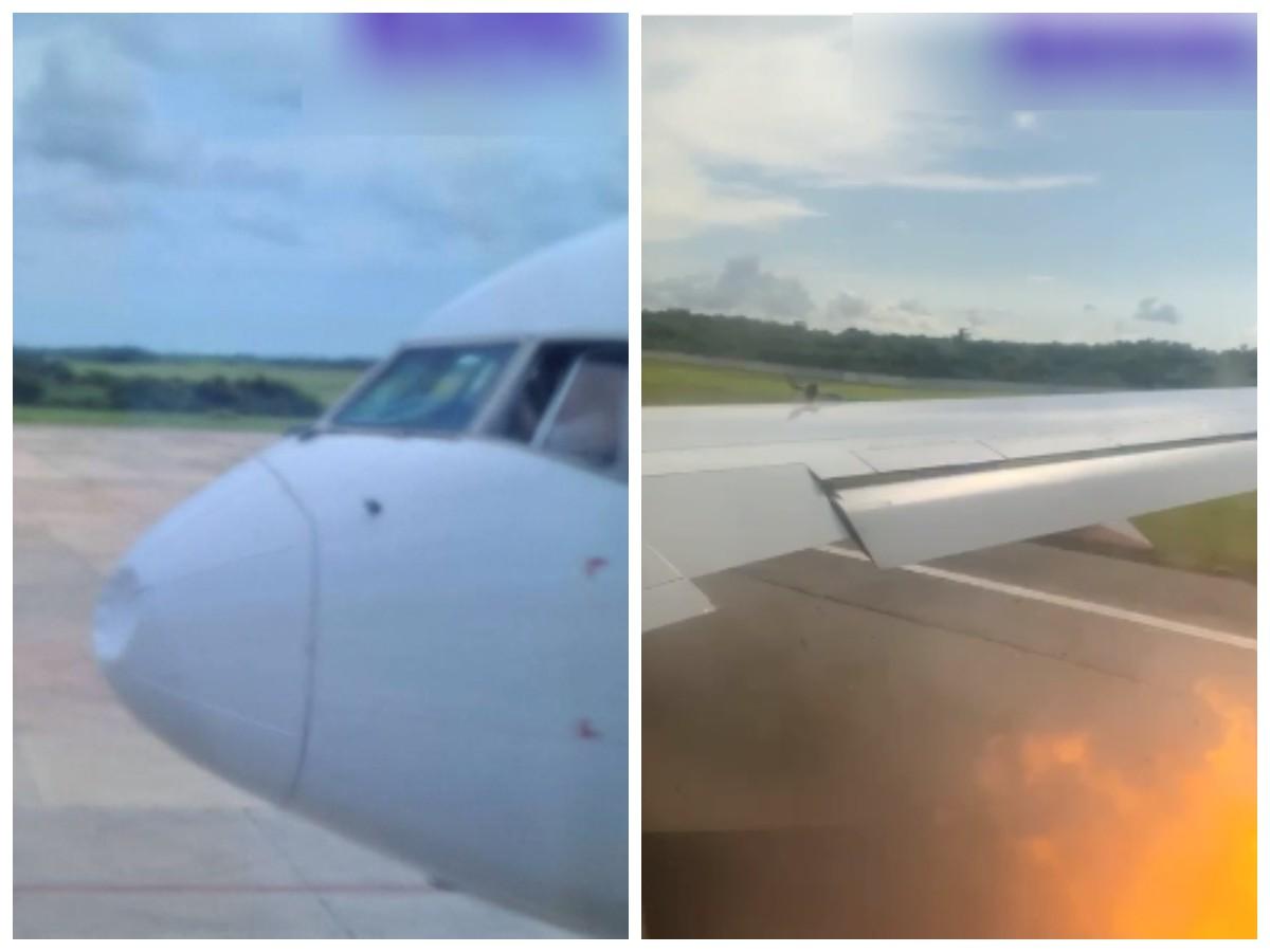 Пассажир заснял на видео, как самолет Azur Air столкнулся с орлами