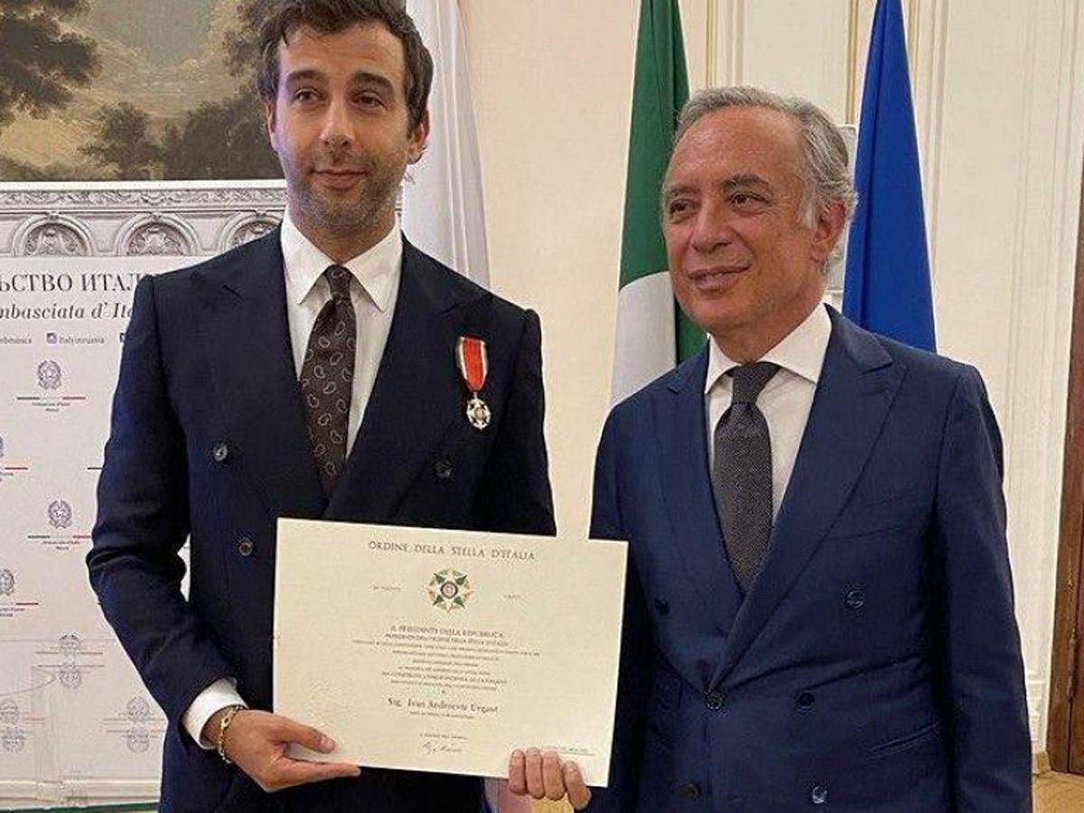 Ургант орден Звезды Италии