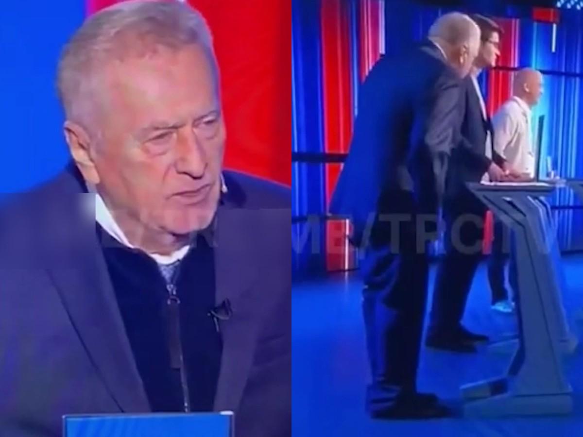 Владимир Жириновский опозорился, потеряв штаны на теледебатах на ТВЦ
