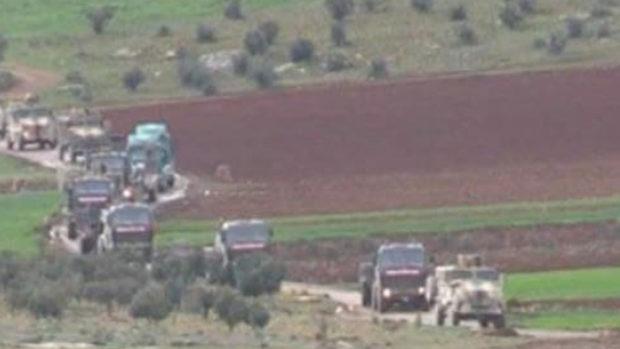 Колонны военных Турции навстречу армии САР попали на видео