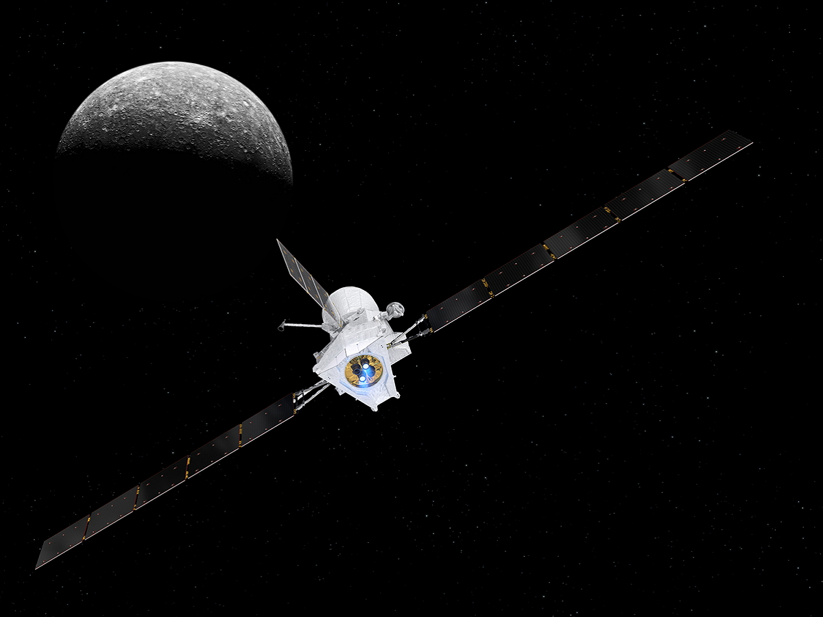 Аппарат BepiColombo прислал первые фото поверхности Меркурия