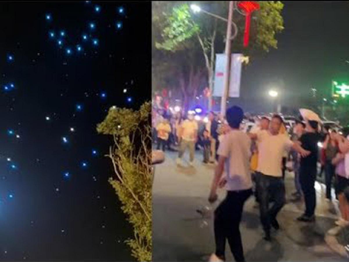 Чжэнчжоу шоу дроны попадали